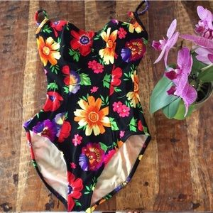 Cole of California Vintage 60s/70s Floral Swimsuit